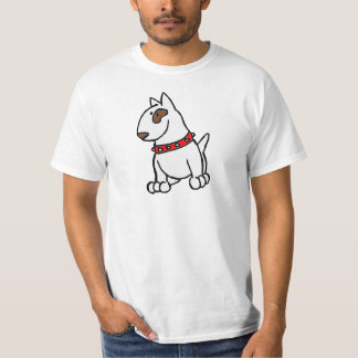English Bull Terrier Cartoon T-Shirt