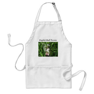 English Bull Terrier Hiding in the Grass Standard Apron