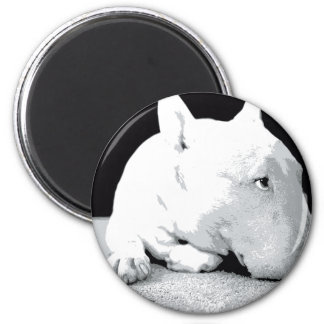 English Bull Terrier, Pop Art Print 6 Cm Round Magnet