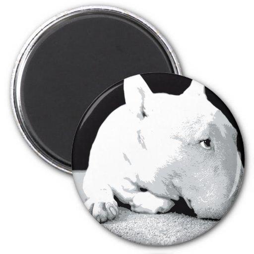 English Bull Terrier, Pop Art Print Refrigerator Magnet