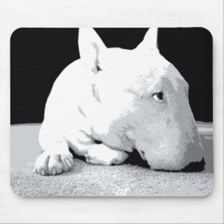English Bull Terrier, Pop Art Print Mouse Pad
