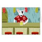 English Bull Terrier Tiki Bar