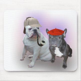 English Bulldog and French Bulldog Mouse Pads