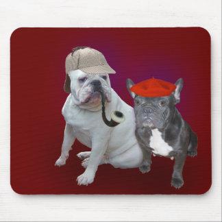 English Bulldog and French Bulldog Mousepad
