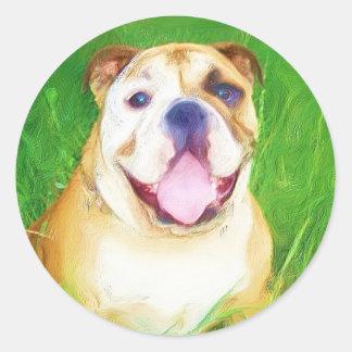 English Bulldog Art Stickers