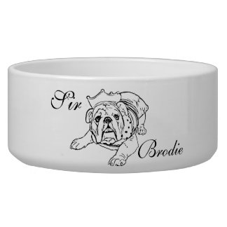 English bulldog bowl
