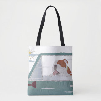 English Bulldog, Bulldog, Colorful, Pop Tote Bag