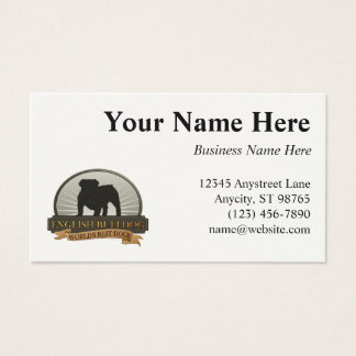 English Bulldog Business Card