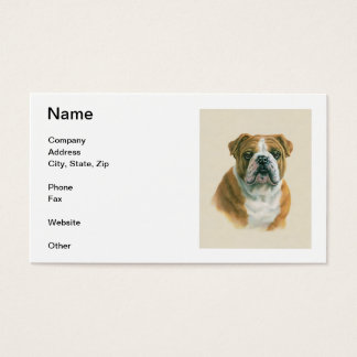 English Bulldog Business Cards