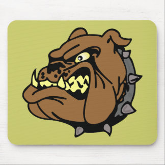 English Bulldog Cartoon Mousepad