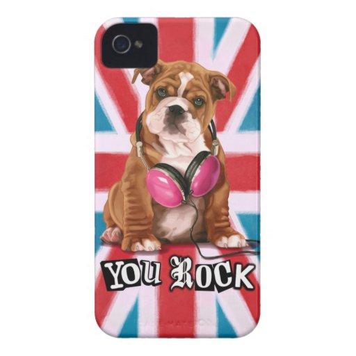 English Bulldog iPhone 4 Case-Mate Cases