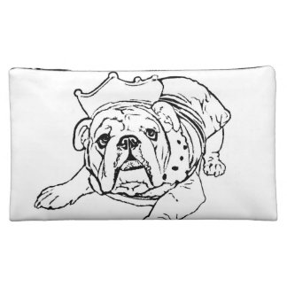 English bulldog cosmetic bag