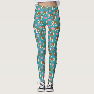 English Bulldog Donuts Leggings