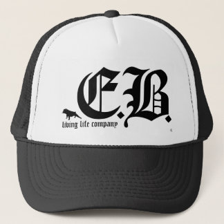 English Bulldog E.B. Living Life Trucker Hat