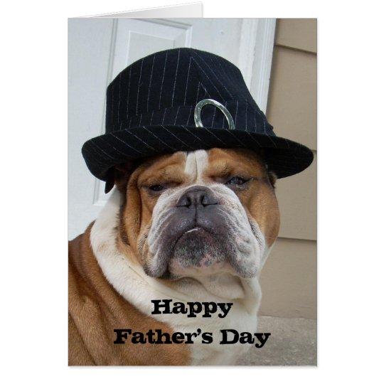 English Bulldog Father's Day Card