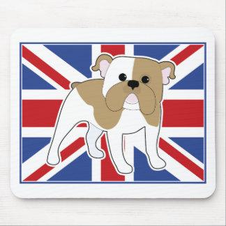 English Bulldog Flag Mouse Pads