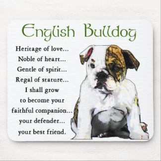 English Bulldog Gifts Mouse Mat