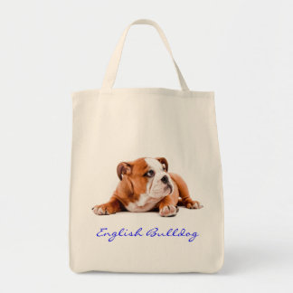 English Bulldog Grocery Tote Bag