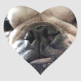 English Bulldog Heart Sticker