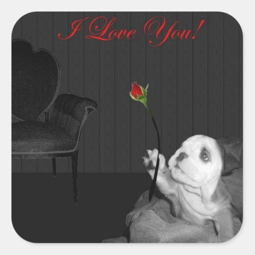 English Bulldog I Love You! Sticker