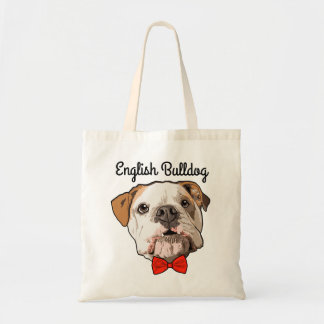 English Bulldog Illustrated Tote Bag