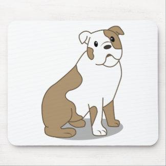 English Bulldog Illustration Mouse Pad
