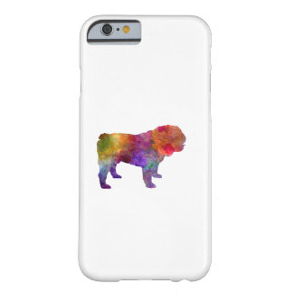 English Bulldog in watercolor Barely There iPhone 6 Case