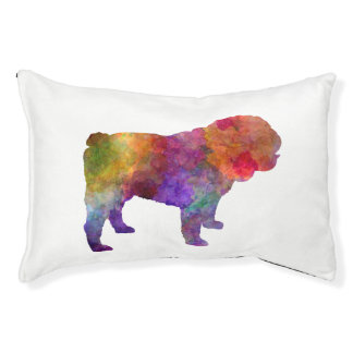 English Bulldog in watercolor Pet Bed