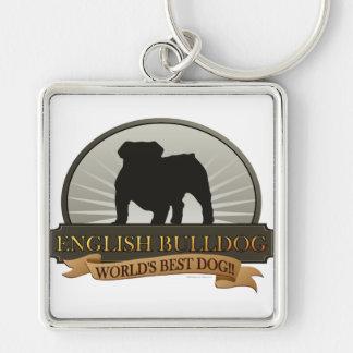 English Bulldog Key Ring