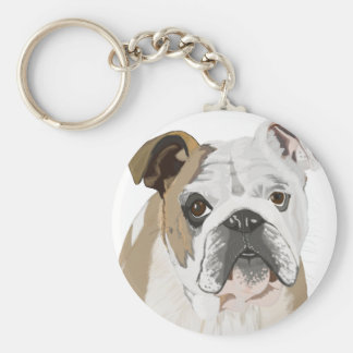 English Bulldog Key Ring
