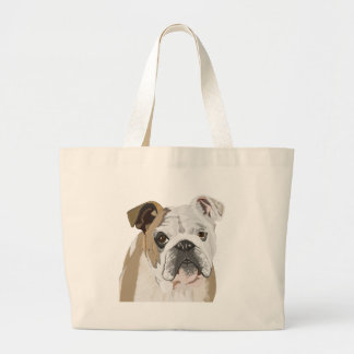 English Bulldog Large Tote Bag