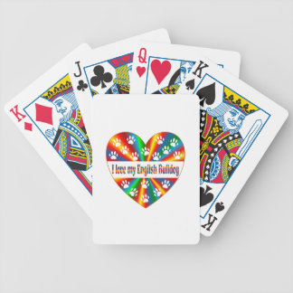English Bulldog Love Poker Deck