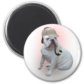 English Bulldog 6 Cm Round Magnet