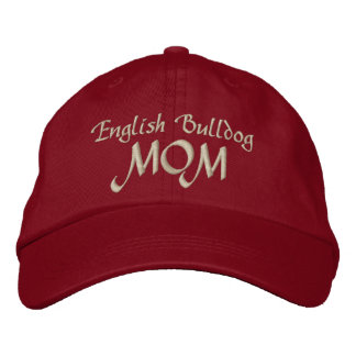 English Bulldog, MOM Embroidered Hat
