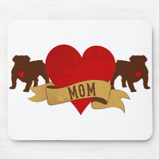 English Bulldog Mom Tattoo style Mousepad