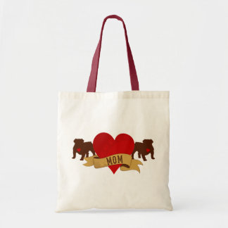 English Bulldog Mom [Tattoo style] Tote Bag