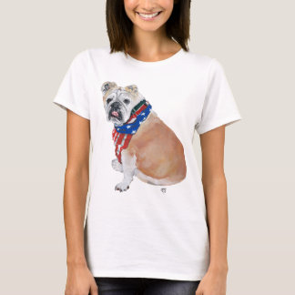 English Bulldog Patriotic T-Shirt