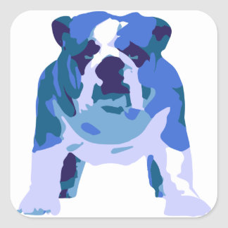 English Bulldog Pop Art Square Sticker