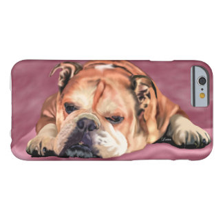 English Bulldog Portrait Barely There iPhone 6 Case