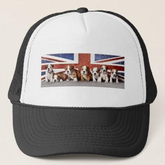 English bulldog puppies trucker hat