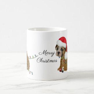 English Bulldog Puppy Christmas Coffee Mug