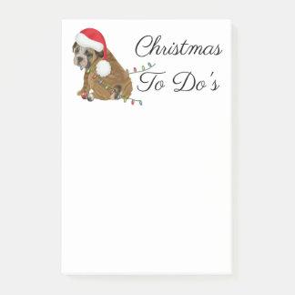 English Bulldog Puppy Christmas Post-it Notes