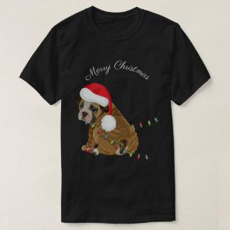 English Bulldog Puppy Christmas T-Shirt
