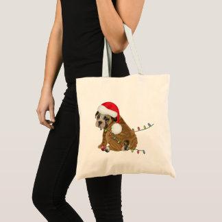 English Bulldog Puppy Christmas Tote Bag