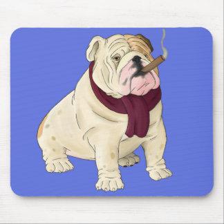 English Bulldog Puppy Dog Cartoon  Mouse  Pad Mousepad