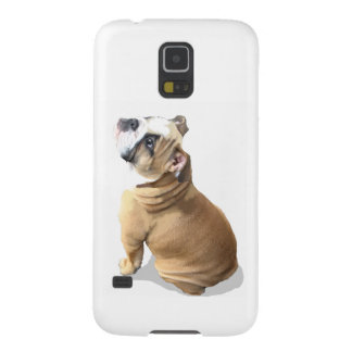 English bulldog puppy with heart design CUSTOMIZE Galaxy S5 Cover