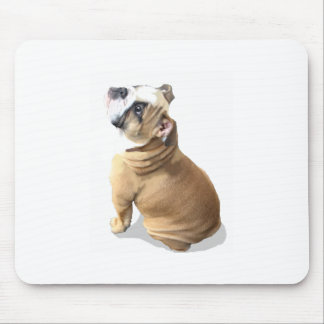 English bulldog puppy with heart design CUSTOMIZE Mouse Pad