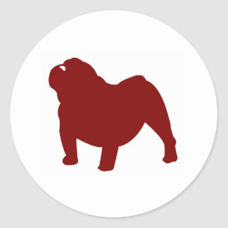 English Bulldog (Red) Stickers