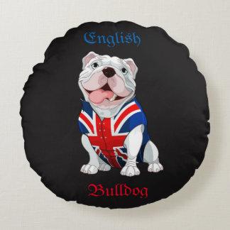 English Bulldog Round Cushion