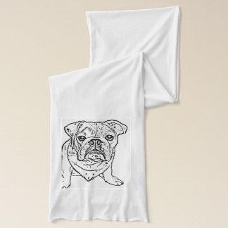 English bulldog scarf